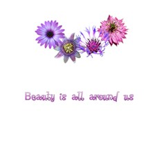 Beauty Is All Around Us   Flowers By Charley Heselti   Greeting Card 5  X 7    Mbvtf8knkk0l   Www Artscow Com Back Inside