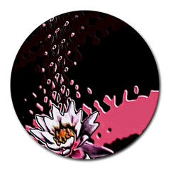 Flower 8  Mouse Pad (Round) by Rbrendes