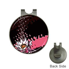 Flower Hat Clip With Golf Ball Marker by Rbrendes