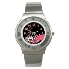 Flower Stainless Steel Watch (slim) by Rbrendes