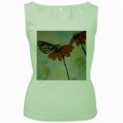 Monarch Women s Tank Top (green) by rokinronda