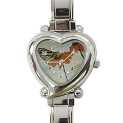 Monarch Heart Italian Charm Watch  by rokinronda