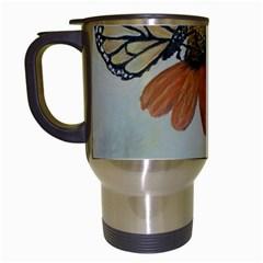Monarch Travel Mug (white) by rokinronda