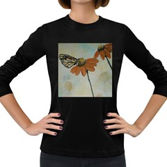 Monarch Women s Long Sleeve T Shirt (dark Colored) by rokinronda