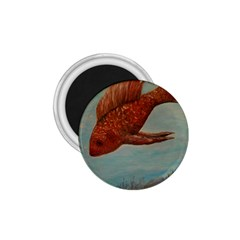 Gold Fish 1 75  Button Magnet by rokinronda