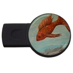 Gold Fish 4gb Usb Flash Drive (round) by rokinronda