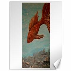 Gold Fish Canvas 36  x 48  (Unframed) by rokinronda
