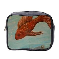 Gold Fish Mini Travel Toiletry Bag (two Sides) by rokinronda