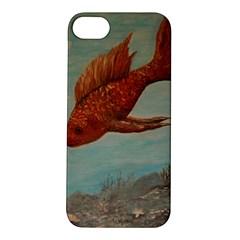 Gold Fish Apple Iphone 5s Hardshell Case by rokinronda
