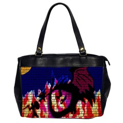 My Dragon Oversize Office Handbag (Two Sides)