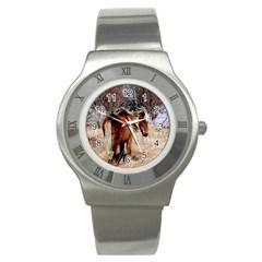 Pretty Pony Stainless Steel Watch (slim)
