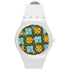 Orange Unicorn Plastic Sport Watch (Medium) by Rbrendes