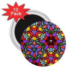 Bright Colors 2 25  Button Magnet (10 Pack) by Rbrendes