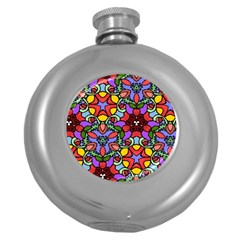 Bright Colors Hip Flask (Round) by Rbrendes