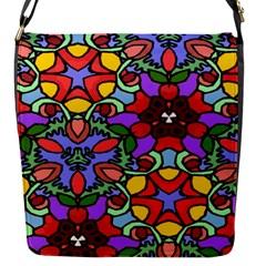 Bright Colors Flap Closure Messenger Bag (small)