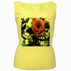Rose Women s Tank Top (yellow)