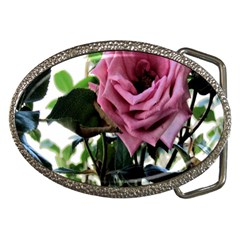 Rose Belt Buckle (oval) by Rbrendes