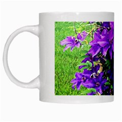 Purple Flowers White Coffee Mug by Rbrendes