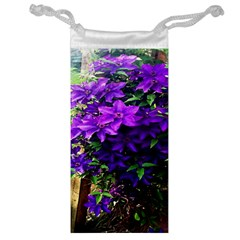 Purple Flowers Jewelry Bag
