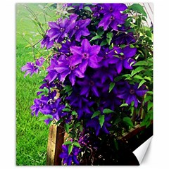 Purple Flowers Canvas 8  X 10  (unframed) by Rbrendes