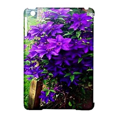 Purple Flowers Apple Ipad Mini Hardshell Case (compatible With Smart Cover) by Rbrendes