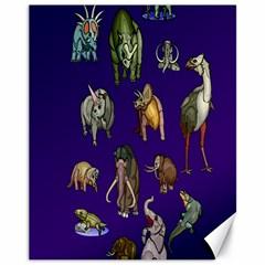 Dino Family 1 Canvas 11  X 14  (unframed)
