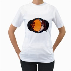 Sky Bears Women s T Shirt (white)