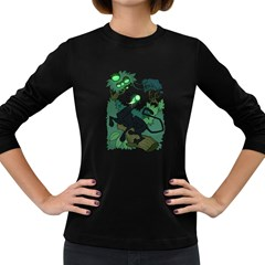 Acid Panther With Berries Women s Long Sleeve T Shirt (dark Colored)