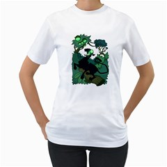 Acid Panther With Berries Women s T Shirt (white)