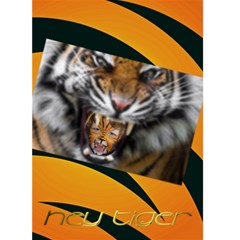 Hey Tiger By Charley Heselti   Greeting Card 5  X 7    Mwlng1tni2kg   Www Artscow Com Front Cover