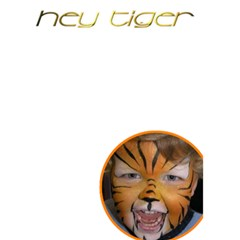 Hey Tiger By Charley Heselti   Greeting Card 5  X 7    Mwlng1tni2kg   Www Artscow Com Back Inside