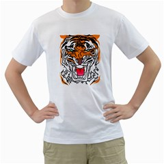 TIGER  Men s T-Shirt (White)  by Contest1918014