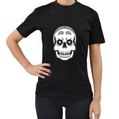 Skull Smile Women s T Shirt (black) by Contest1915162