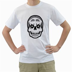 Skull Smile Men s T Shirt (white)
