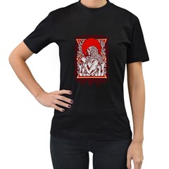 Red Moon Zombie Women s T Shirt (black) by Contest1731890