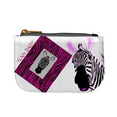 Pink Zebra By Charley Heselti   Mini Coin Purse   Zyfy3ges9uac   Www Artscow Com Front