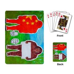 2 Yeh Ren,text & Flag In Forest  Playing Cards Single Design by creationtruth