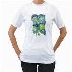 Fungky Teenage Mutant  Ninja Turtle Women s T-Shirt (White)  Front