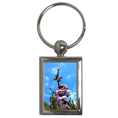Pink Flower Key Chain (rectangle)