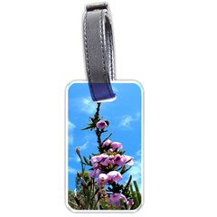 Pink Flower Luggage Tag (two Sides) by Rbrendes