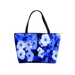 Blue Flowers Large Shoulder Bag by Rbrendes