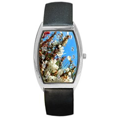 Australia Flowers Tonneau Leather Watch by Rbrendes