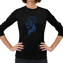 Cat Women s Long Sleeve T Shirt (dark Colored)