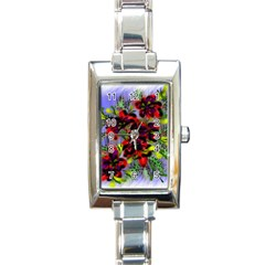Dottyre Rectangular Italian Charm Watch by Rbrendes