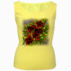 Dottyre Women s Tank Top (yellow) by Rbrendes