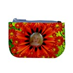 Fluid Flower Power picture coin purse hippy - Mini Coin Purse