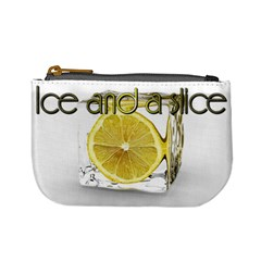 Ice And A Slice After Work Drink Bar Relax Chill Lemon Coin Purse By Charley Heselti   Mini Coin Purse   Erf1pfmisohu   Www Artscow Com Front