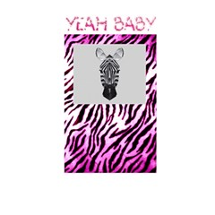 Pink Zebra Yeah Baby Greetings Card By Charley Heselti   Greeting Card 5  X 7    Ajw9nrm4mpd6   Www Artscow Com Back Cover