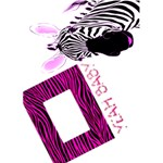 Pink Zebra Yeah Baby Greetings Card - Greeting Card 5  x 7
