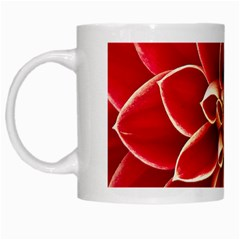 Red Dahila White Coffee Mug by Colorfulart23